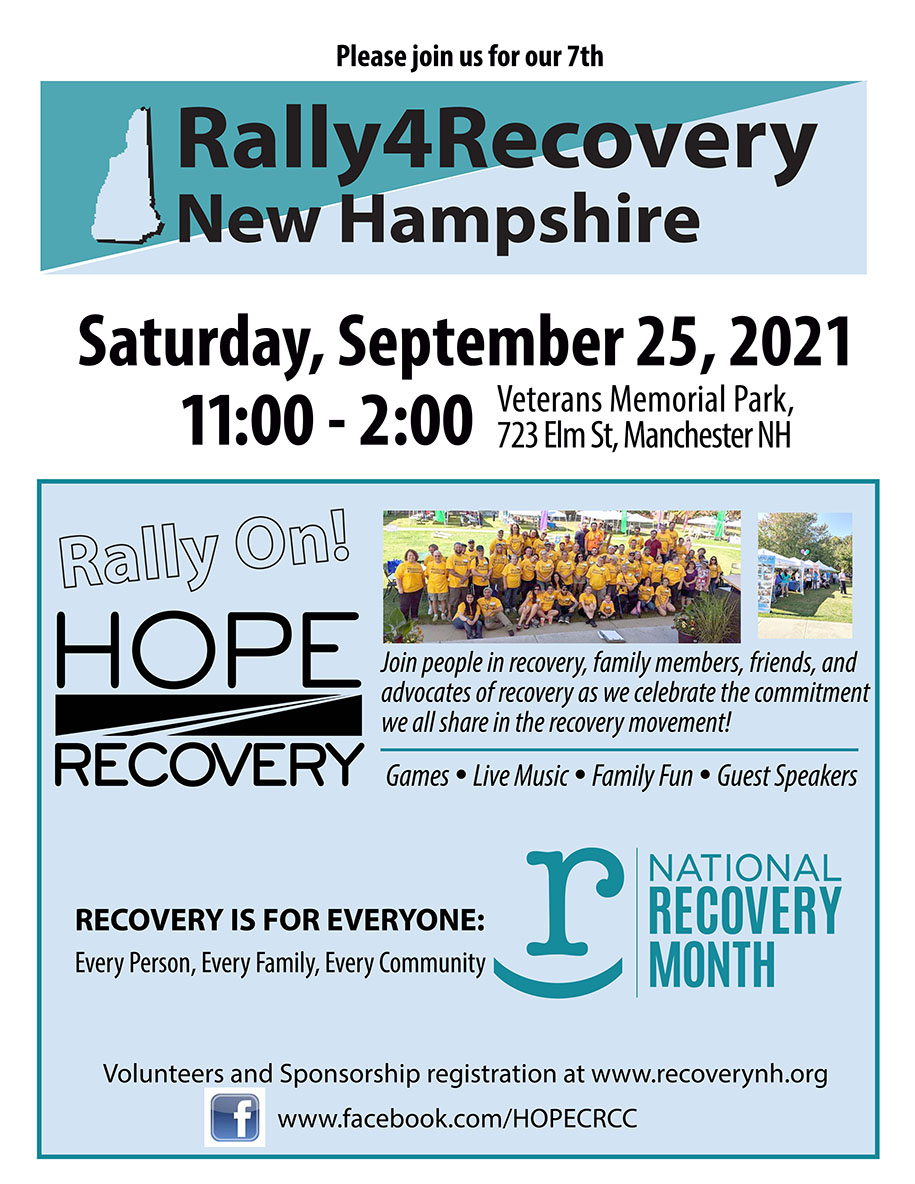Hope Rally 2021 Flier