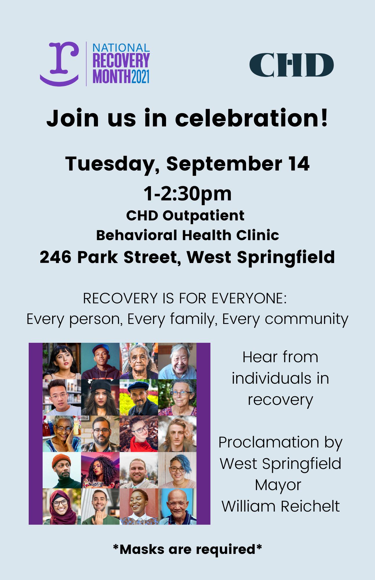 Recovery Event Invite